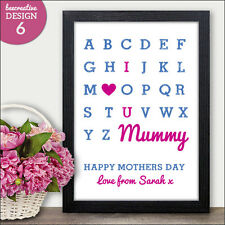 I Love You Personalised Mothers Day Gifts Presents I Love You Mum Mummy Gifts