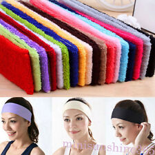 14 Colors Sweatband Terry Cloth Cotton Headbands Yoga/Gym/Workout Sweatbands