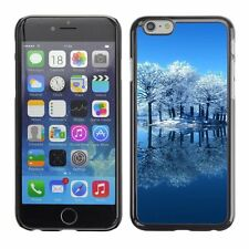 Hard Phone Case Cover Skin For Apple iPhone Frosted trees reflection lake