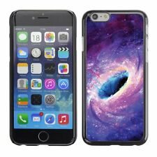 Hard Phone Case Cover Skin For Apple iPhone Black hole and purple tunnel