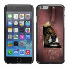 Hard Phone Case Cover Skin For Apple iPhone Puppy looks through the hole
