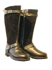 Mens new Pilots boots German WW2 Luftwaffe black leather flying shoes wwll