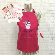 Personalised Embroidered Child's Apron, Cupcake Design, Any Name, Unisex