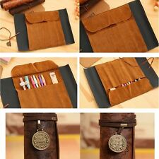 Bag Purse Pouch Cosmetic Make Up PU Bag Pen Pencil Case For School Leather