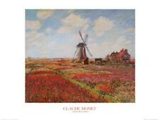 Tulip Fields with the Rijnsburg Windmill Art Print by Monet, Claude Wall Decor