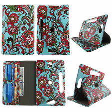 """Folio Cover for Barnes & Noble NOOK 7"""" Tablet-Leather(PU)-360° Stand-Card Pocket"""