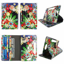 Folio Cover for ASUS Google Nexus 7 Tablet Pleather Case/360° Stand/Card Pockets