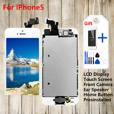 LCD Display+Touch Screen+Home Button+Front Camera Full Replacement for iPhone5