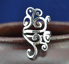 Beautiful sterling silver ring with abstract swirl design sizes 6, 7, 8, 9, 10