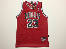 NBA Chicago Bulls Michael Jordan #23 Mens Rookie Red Nike Throwback Jersey