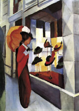 August Macke - The Hat Shop - Choose Size QUALITY Canvas Print Poster Unframed