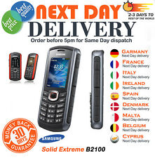 New Condition Samsung Solid Extreme B2100 Modern Black/Red Unlocked Mobile Phone