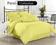600-800-1000-1200TC Yellow Solid 1000TC 100% Egyptian Cotton US Bedding All Size