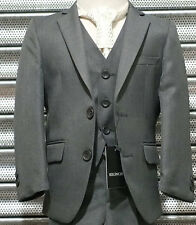 Boys Formal 3PC Pageboy Suit in Grey Prom Wedding Communion Italian Boy Suits