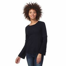 Rjr.John Rocha Womens Navy Bell Sleeve Jumper From Debenhams