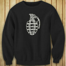 VINTAGE GRENADE ARMY MILITARY SPECIAL FORCES BOMB Womens Black Sweatshirt