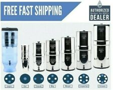 Berkey Water Filters -Big,Crown,Royal,Imperial,Light,Travel,w/Black& PF-2 Filter