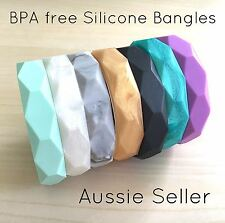 BPA Free Silicone Bangle Bracelet Diamond Faceted Teething Baby Jewellery Rings