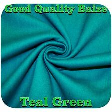 Good Quality Teal Green Woven Wool Baize Fabric for Pool/ Snooker/ Poker Tables