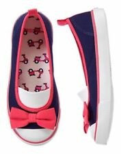 NWT Gymboree Ciao Puppy 9 10 11 1 2 Bow Sneakers Shoes Navy/Pink Girls