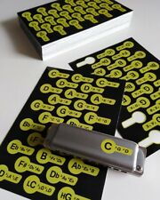 Harp Keys - label stickers with positions for major and low diatonic harmonicas