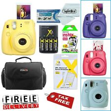 Fujifilm Instax Mini 8 Instant Film Camera Bag Case, Batteries & Battery Charger