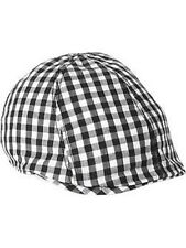 New OLD NAVY Boys Hat Size 0-6 months Gingham Print Driver Cap Cotton Black