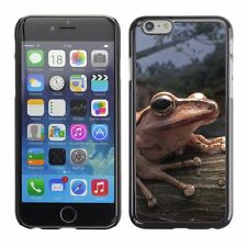 Hard Phone Case Cover Skin For Apple iPhone Tree frog sitting on a t