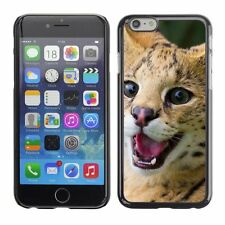 Hard Phone Case Cover Skin For Apple iPhone Funny active cat serval