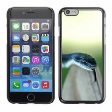 Hard Phone Case Cover Skin For Apple iPhone Black snake with tongue