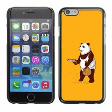 Hard Phone Case Cover Skin For Apple iPhone Panda robs the bank