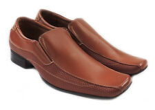 NEW FERRO ALDO CLASSIC MENS LEATHER LINED DRESS SHOES LOAFER SLIP ON 19505 BROWN