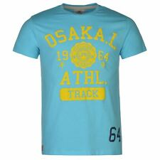 Osaka Mens Gents Laundry T-Shirt Crew Neck Short Sleeve Clothing Szs From S 3XL