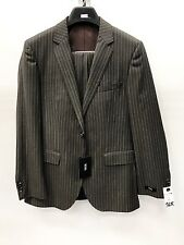 NEW Hugo Boss Mens Suit 100% Wool 2 Button Brown Pinstripe Made In Bulgaria 36R