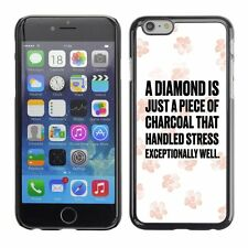 Hard Phone Case Cover Skin For Apple iPhone 89 diamond charcoal pink flowers whi