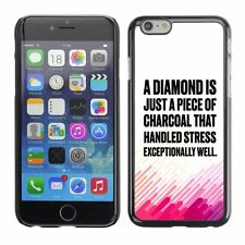 Hard Phone Case Cover Skin For Apple iPhone 47 diamond charcoal drawing pink whi