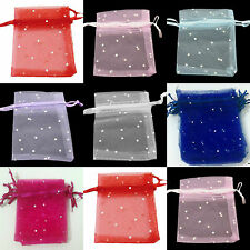 Organza Gift bags with sparkling dots 7x9cm Wedding favour Bags UK seller