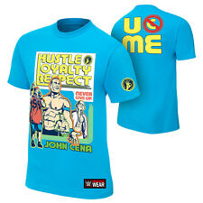 "New WWE John Cena Authentic T-Shirt M L XL Women""s Turquoise 100% Cotton"
