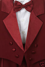 Baby ,Toddler & Boy Burgundy Bow Tie Wedding Formal Tuxedo Suit S M L XL-3T 4T