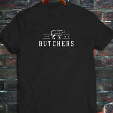 BUTCHERS COW BEEF CARNIVORE MEAT SLAUGHTER FOOD Mens Black T-Shirt