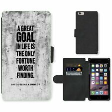 Phone Card Slot PU Leather Wallet Case For Apple iPhone 126 goal Kennedy white b