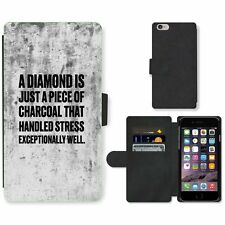 Phone Card Slot PU Leather Wallet Case For Apple iPhone 126 diamond charcoal whi