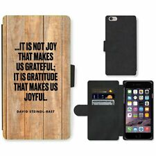 Phone Card Slot PU Leather Wallet Case For Apple iPhone 171 joy gratitude wooden