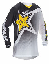 FLY Racing Kinetic Mesh Rockstar Motocross MX Dirt Bike Off-Road ATV Quad Jersey
