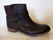 NEW Clarks Womens Leather MID CALF boots MOUNTAIN MIST Dark GREY