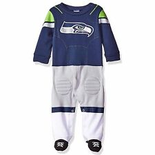 Gerber NFL Seattle Seahawks Infant Baby Footed Player Uniform Sleepers Pajamas