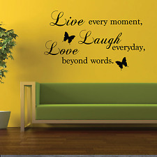 Modern Live Laugh Love Wall Art Home Decor Wall Quote Decal Sticker Oracal 651