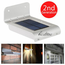16 LED Solar Power Motion Sensor Garden Security Lamp Outdoor Waterproof LightEG