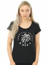 Roxy Anthracite Bobby Twist Tropical Things Womens T-Shirt