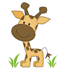 Safari Nursery Decor Giraffe Decals Jungle Animals Wall Art Mural Room Stickers